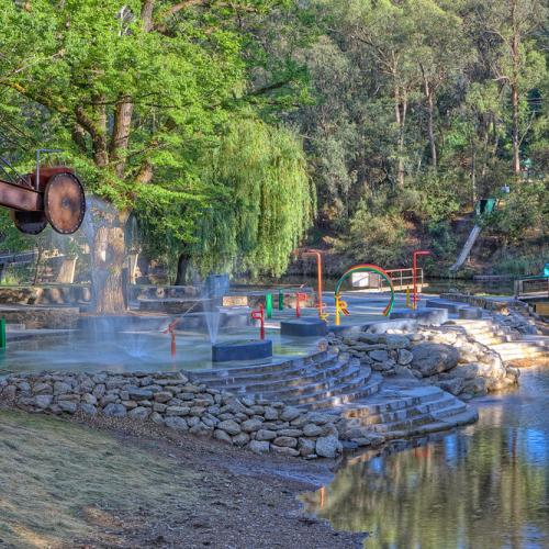 The Bright Water Park by the Ovens River
